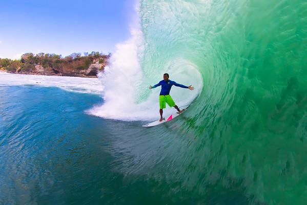Surfing Bali 2014