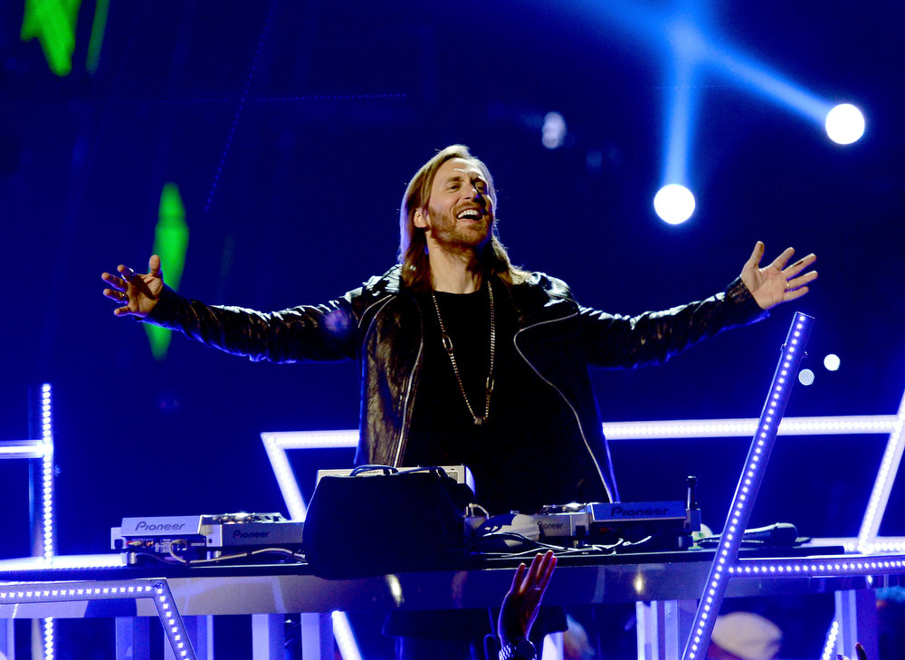 . DJ David Guetta performs  onstage during the 2013 Billboard Music Awards at the MGM Grand Garden Arena on May 19, 2013 in Las Vegas, Nevada.  (Photo by Ethan Miller/Getty Images)