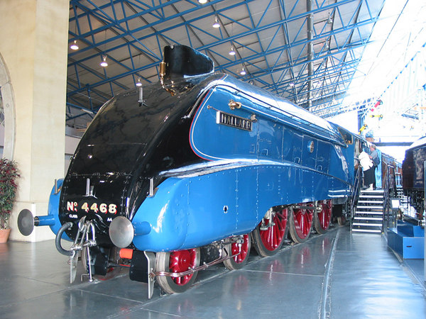 Mallard, holder of the world speed record for steam engines, National Railway Museum, York.