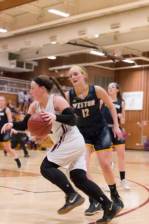 2018_03_01 Girls Basketball vs Weston