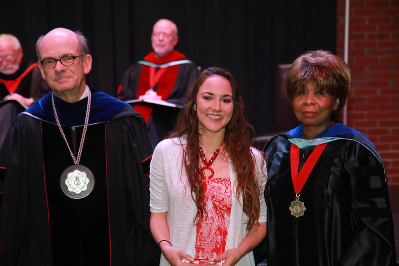 59th Academic Awards Day; Spring 2014. Elementary Education Student Teaching Award-Statesville: Chelsea Elise Hall