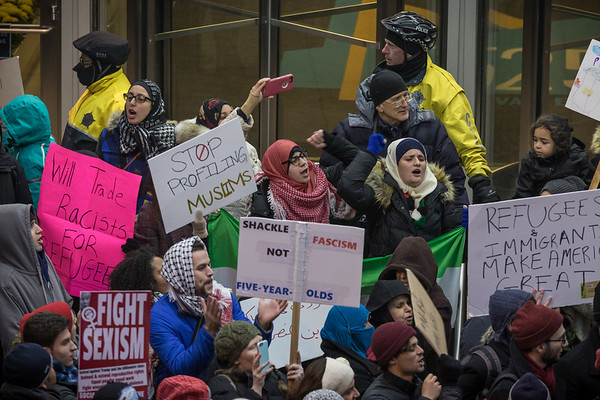 Muslim Ban Protest - Chicago - 2/1/17