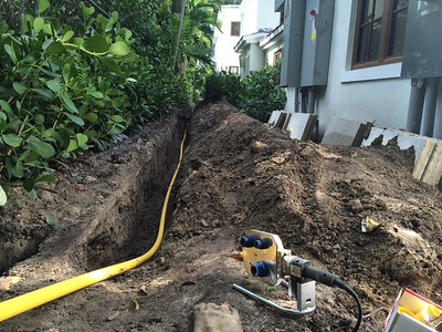Natural gas lines to whole house. Sunset Islands Miami Beach