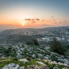 Sunset over Nazareth, Israel