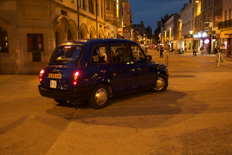 Transportation, Street Scene, Oxford, England, Twilight