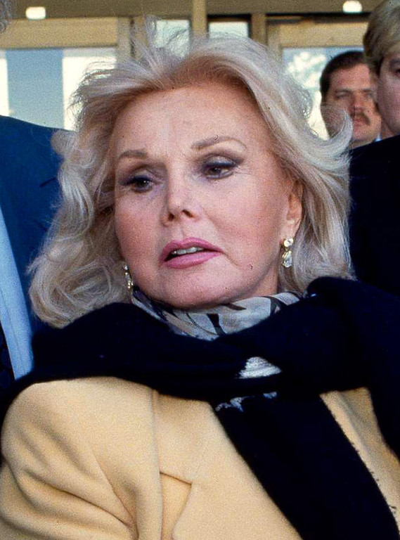 . FILE - In this Jan. 27, 1993 file photo, actress Zsa Zsa Gabor is shown in Midland, Texas.  (AP Photo/Curt Wilcott, File)