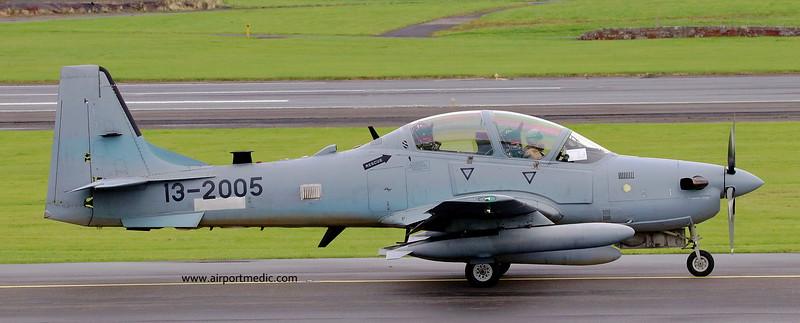 13-2005 Tucano A-29 Afgan Air Force @ Prestwick Airport (EGPK)