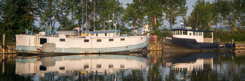 Port Dover is home to a fleet of fishing tugs