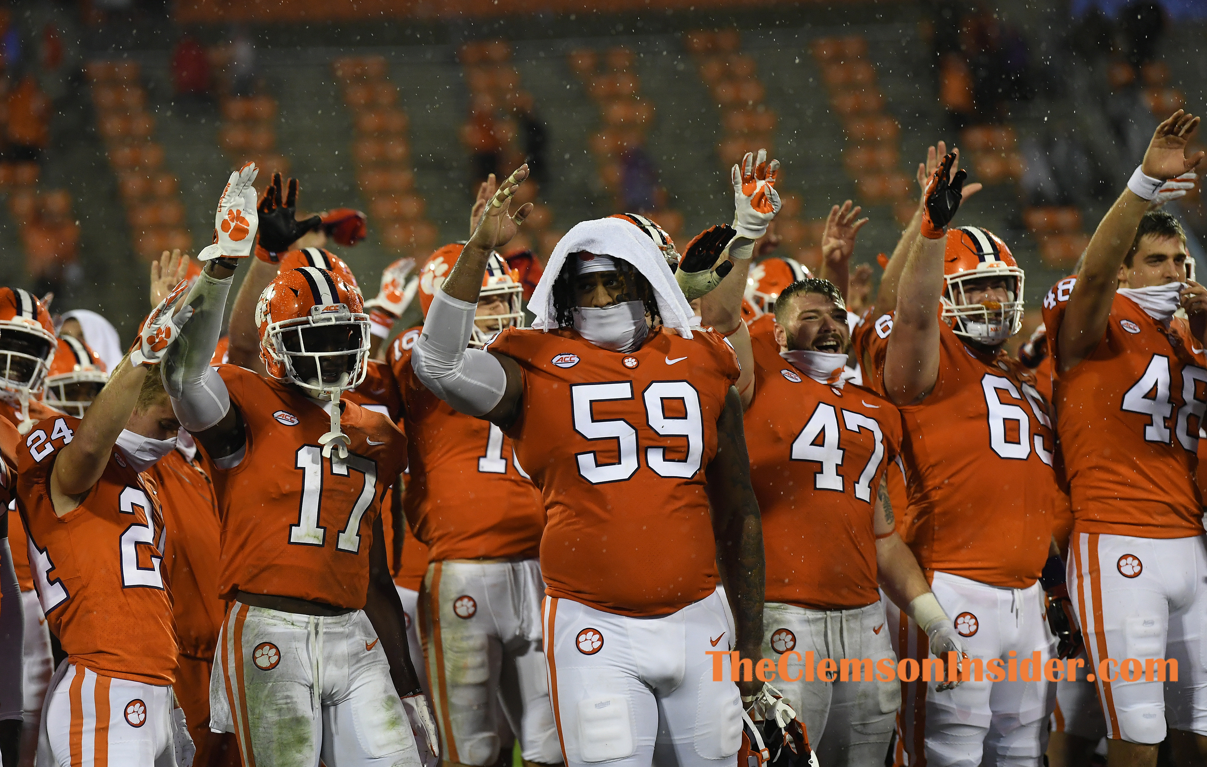 Clemson plays Miami during the 4th quarter of Clemson's game against the University of Miami at Clemson's Memorial Stadium Saturday, October 10, 2020. Bart Boatwright/The Clemson Insider