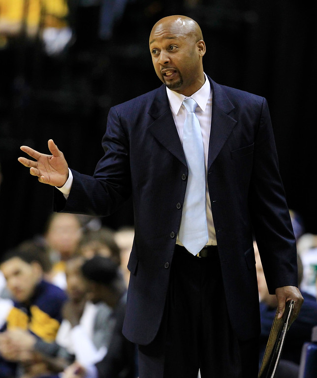 . Indiana Pacers assistant head coach Brian Shaw talks to his team during Game 6 of their NBA basketball Eastern Conference semifinal playoff series  against the Miami Heat in May, 2012 in Indianapolis. (AP Photo/Darron Cummings)