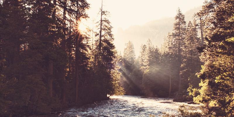 Merced River, Yosemite Valley, Yosemite National Park, California