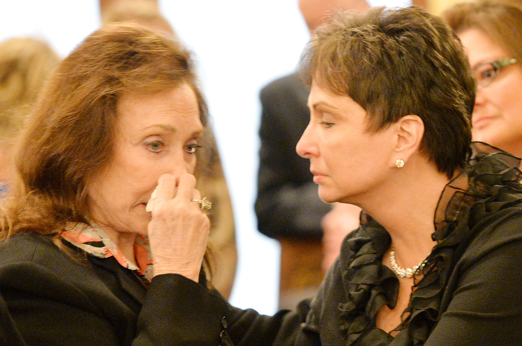 . Country musician Loretta Lynn (L) and Nancy Jones attend the private visitation for George Jones on May 1, 2013 in Nashville, Tennessee.   (Photo by Rick Diamond/Getty Images for Nancy Jones)