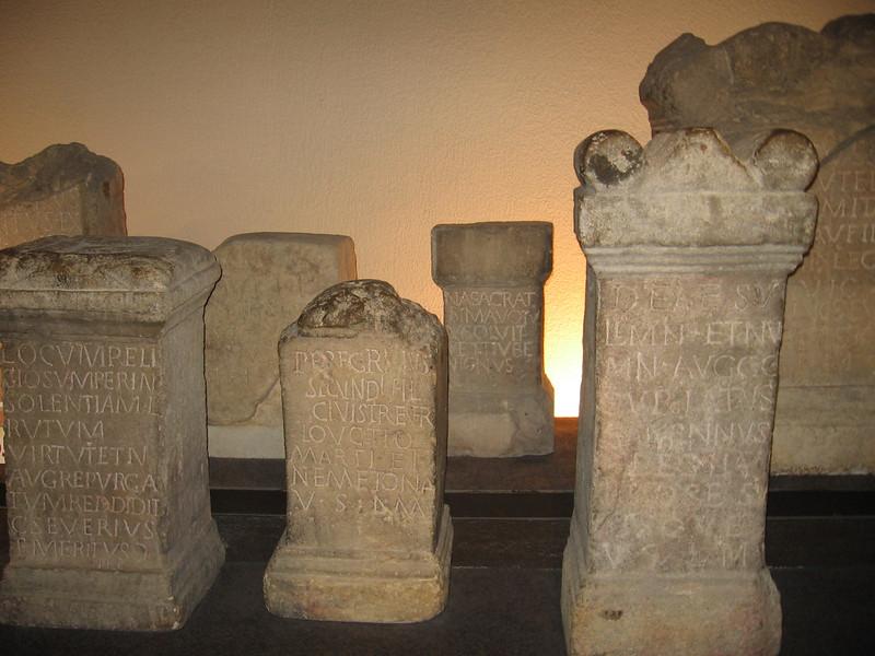 Roman tombstones, Roman Baths, Bath