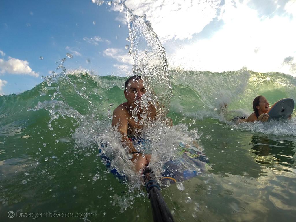 Sri Lanka beaches - Divergent Travelers - boogie boarding