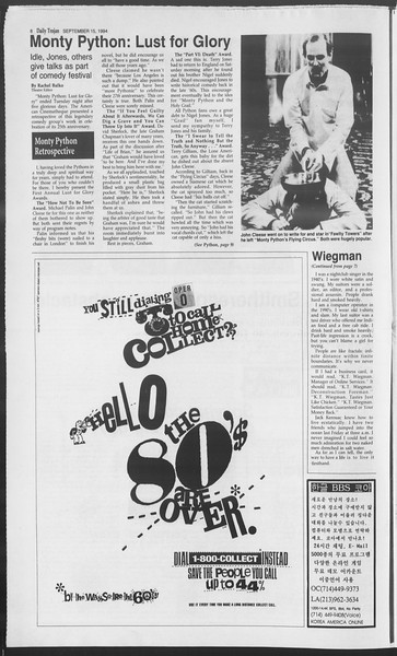 Daily Trojan, Vol. 123, No. 10, September 15, 1994