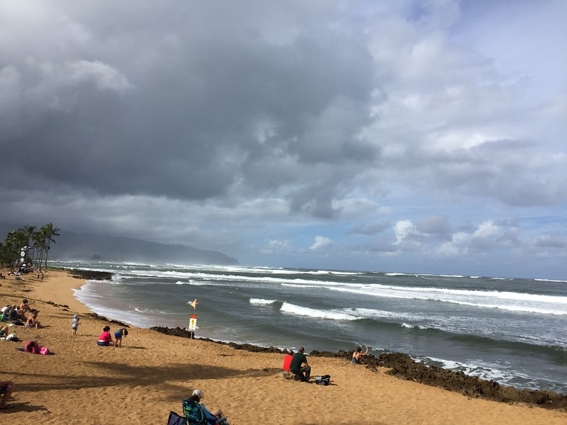We stopped off at the Hawaiian Pro surfing competition at Alii Beach Park to watch some of the action