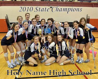 Holy Name VS Clarion Girls Volleyball State Championship 2010