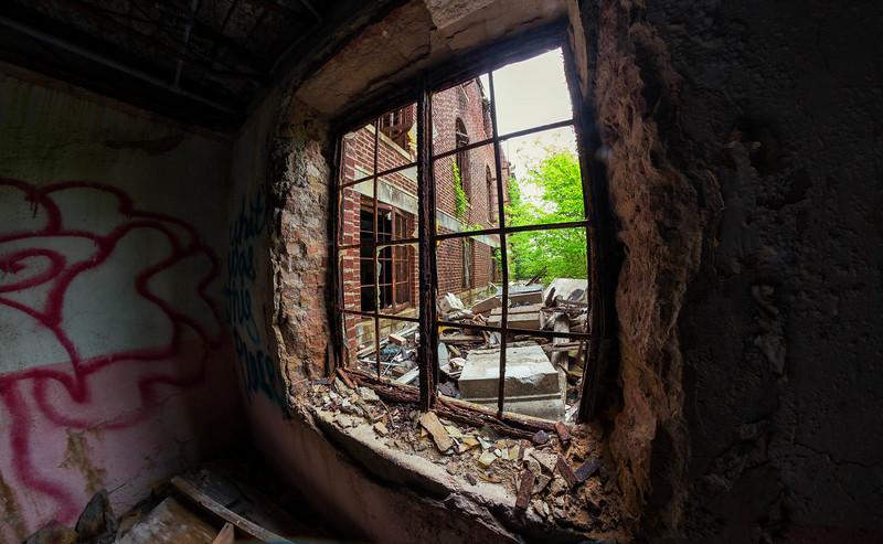 at the abandoned Woodmen Circle Children's Home, Sherman, Texas, USA