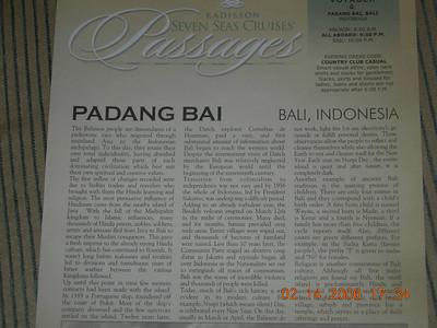 Padang Bai, Bali, Indonesia  (2/15/2006)