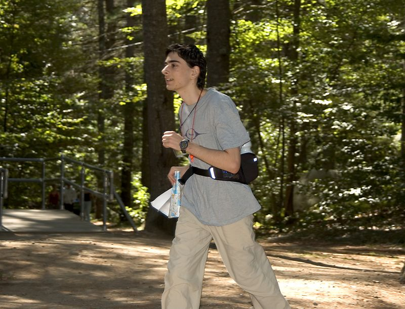 Ben Gould races to the finish