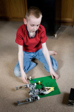 Daniel and legos April 2011