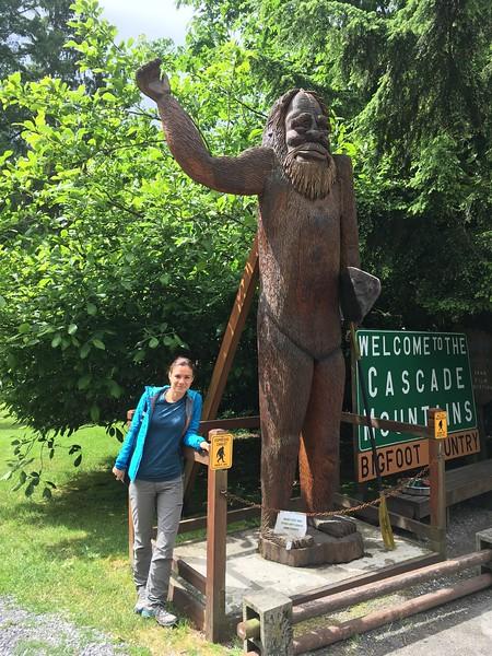 Yuliya and Harry the Bigfoot :D