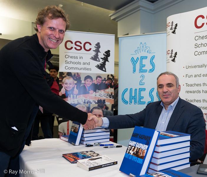 Gary Lane meets Garry Kasparov