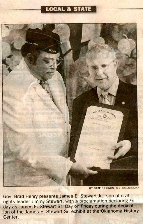 Gov. Brad Henry (Oklahoma) & James E. Stewart Jr.