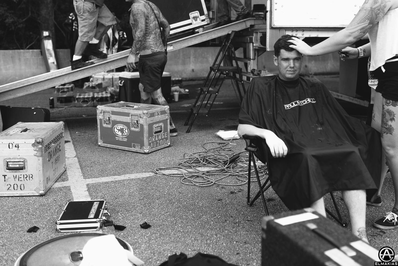 Michael McGough of Being As An Ocean haircut at Vans Warped tour 2015 by Adam Elmakias