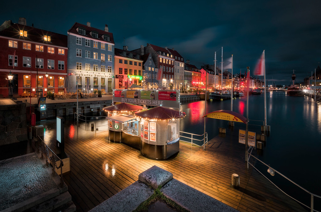 Nyhavn during a flood