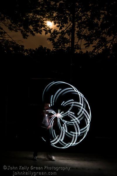 Super Moon Fire Hoop Dance