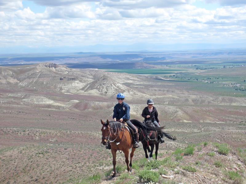 Two trail riders in Owyhee