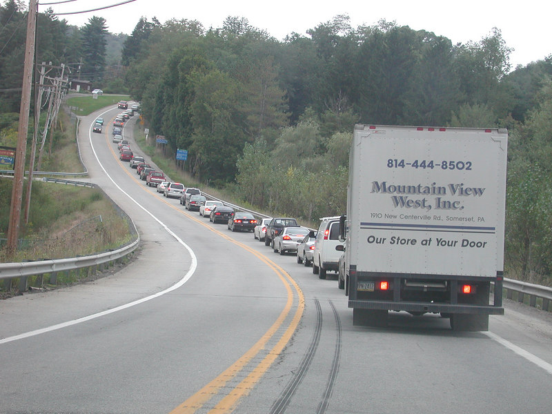 Here's another view going home on Rt # 40 with traffic ties around the 84 Classic.