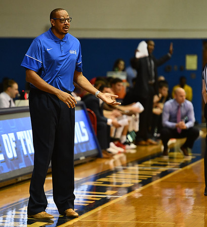 1/4/2020 Mike Orazzi | StaffrCentral Connecticut State University's Donyell Marshall during Saturdays mens basketball game in New Britain. r