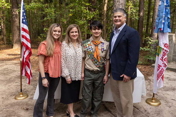 Brian becoming an Eagle Scout