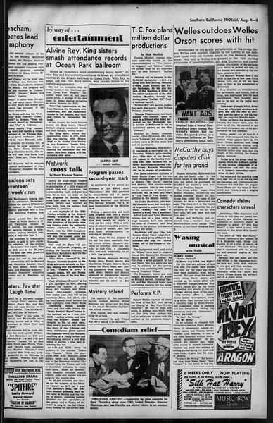 Southern California Trojan, Vol. 35, No. 14, August 04, 1943