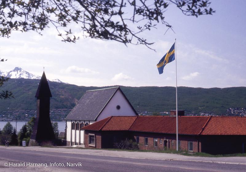 Svenska sjømannskyrkan nederst i Kongens gate i Narvik.
