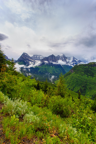 Scenic of Glacier National Park, Montana.