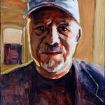 Portrait study - Dan B; acrylic on paper, 22 x 30, 2018