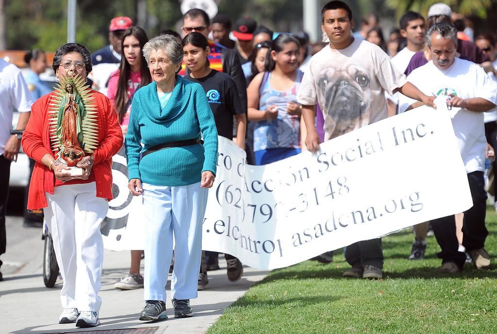 . The El Centro de Accion Social Annual Cesar Chavez Commemoration and Peace Walk at the Villa-Parke Community Center on Saturday, March 30, 2013 in Pasadena, Calif.  (Keith Birmingham Pasadena Star-News)