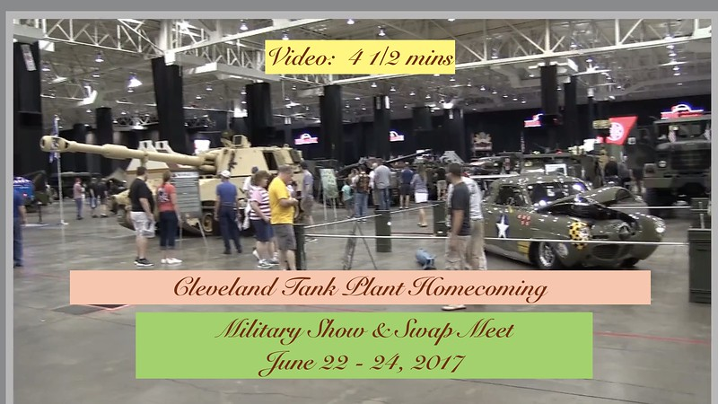 Video:  4 1/2 mins. ~~ Vendors - Cleveland Tank Plant Reunion, Sat., June 24, 2017