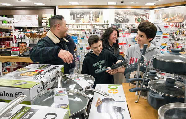 11/29/19 Wesley Bunnell   StaffrrShopping at Kohl's in Plainville during their Black Friday sale is Emmanual Berger, L, Jacob Trumbley, Kristy Trumbley and Nathan Trumbley, This marks the fifth year where the group of immediate family and friends kicks off the holiday season with a Black Friday shopping trip to Kohl's in Plainville followed up with a movie.