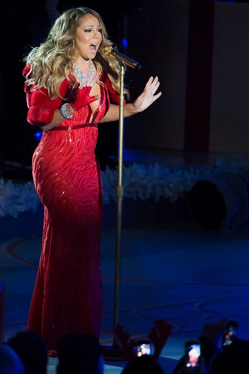. Mariah Carey performs at the 82nd Annual Rockefeller Center Christmas Tree Lighting Ceremony on Wednesday, Dec. 3, 2014, in New York. (Photo by Charles Sykes/Invision/AP)