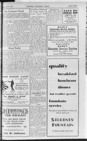 Southern California Trojan, Vol. 10, No. 6, July 09, 1931