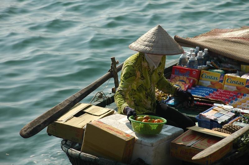 Oreos in a Boat - Halong Bay, Vietnam