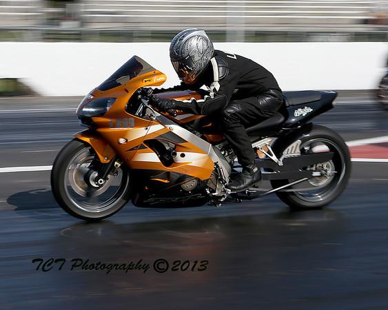 Biker Bob's Harley at the Dragway 5-17-13