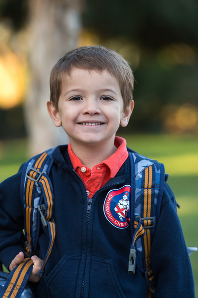 First Day of Preschool - Jacob 2015