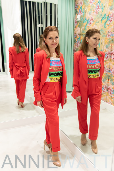 March 7, 2020 Jean Shafiroff Fashion Shoot at Alice & Olivia