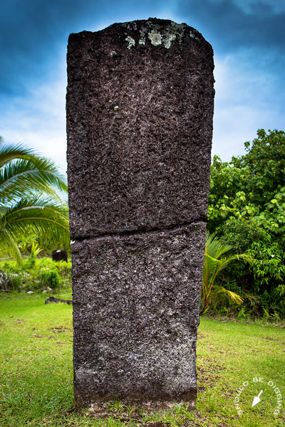 The site consists of large basalt stones, many of which still stand upright