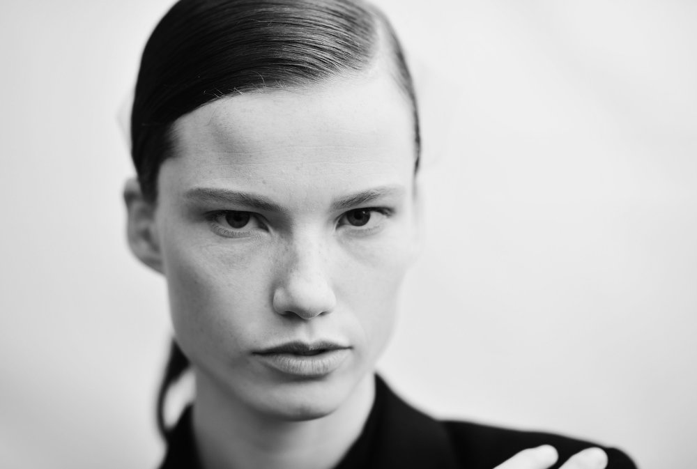 Description of . A model backstage before the Chloe Fall/Winter 2013 Ready-to-Wear show as part of Paris Fashion Week on March 3, 2013 in Paris, France.  (Photo by Gareth Cattermole/Getty Images)